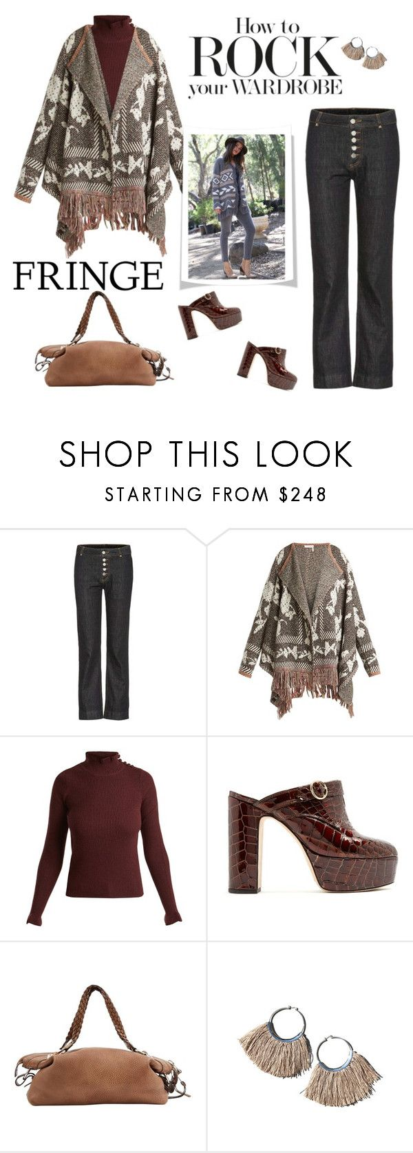"""""""Shimmy Shimmy: Fringe"""" by likepolyfashion ❤ liked on Polyvore featuring AlexaChung, See by Chloé, Gucci, Erin Considine and fringe"""