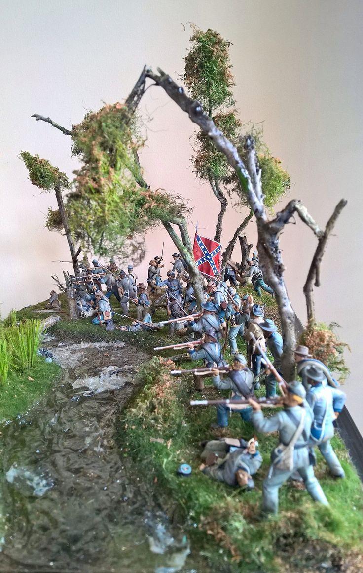 54 mm Diorama of Johny Reb Battle of Antietam 17-9-1862 west wood sector, by ademodelart
