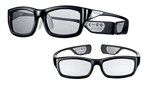 Samsung Rechargeable 3D Active TV accessory Glasses Black 2 Pair Television Home