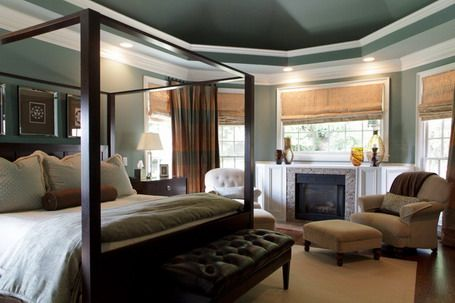 elegant canopy bed in master bedroom design ideas with relaxing