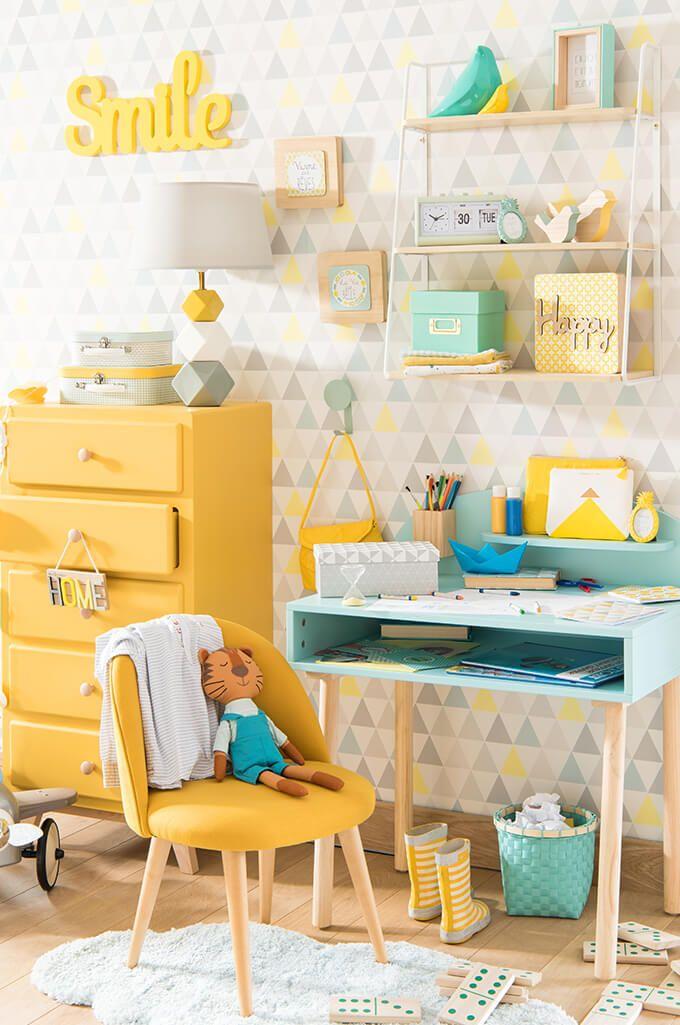 tendance dco mint and lemon on se rveille les enfants maisons du - Peinture Pour Chambre De Fille