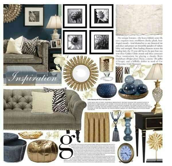 Best Navy Gold Blue Living Room Decor Blue And Gold Living 400 x 300