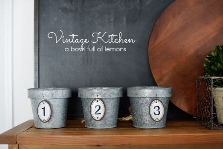 My updated Vintage Kitchen via A Bowl Full of Lemons  15