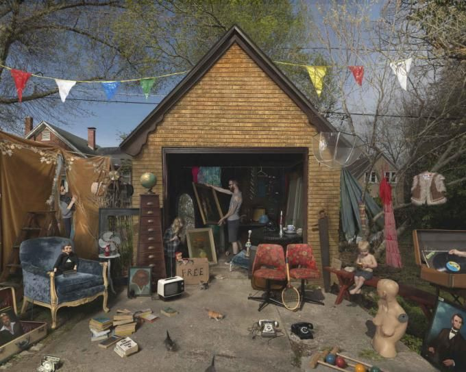 Julie Blackmon, Garage Sale, 2013.  Image courtesy of The Photographers' Gallery. Click above to see larger image.