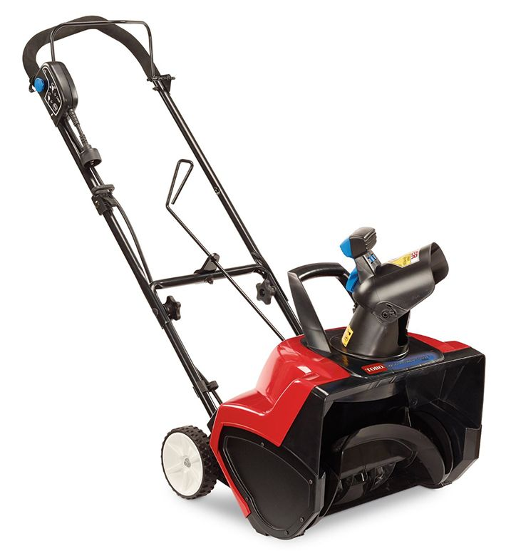 The Toro Electric Snow Blower 1800 Power Curve is designed to move snow quickly and clean all the way down to patios, decks and driveways while helping to eliminate clogging.