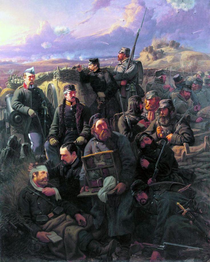 Scene from the Battle of Dybbøl 1864.