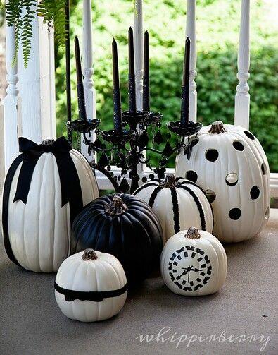 Black and white pumpkins