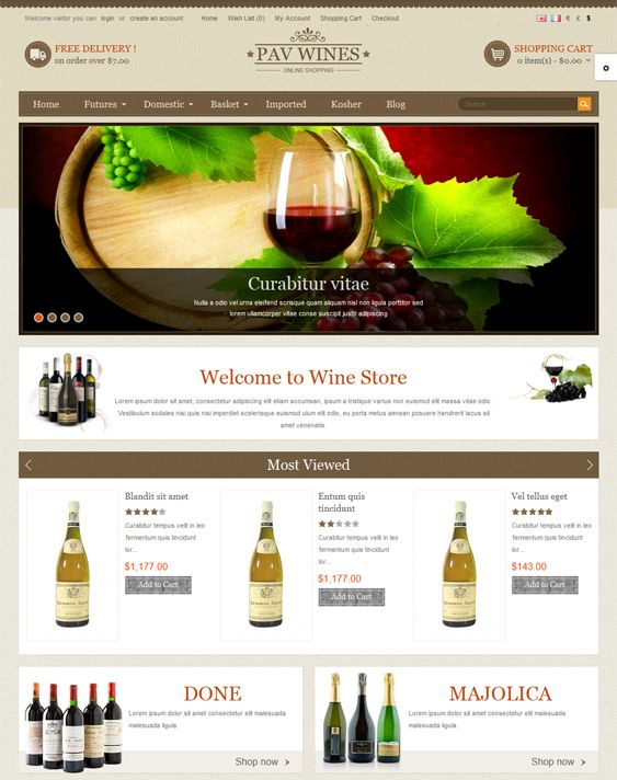 17 best 17 of the best food wine restaurant opencart for Opencart template builder
