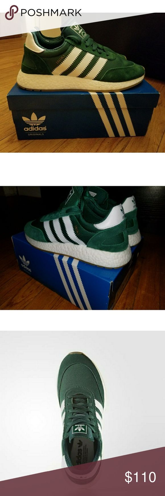 ADIDAS INIKI BOOST in Green/Gum Brand new with tags. Adidas Iniki in green/gum combo. Super lightweight old school adidas with the boost technology. adidas Shoes Sneakers