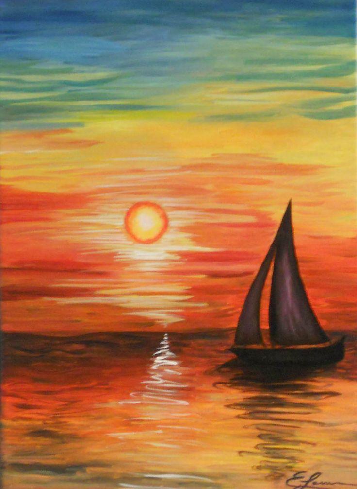 Sunset Canvas Painting Landscape Canvas Painting