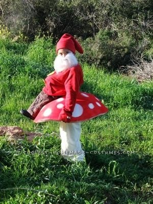 Coolest Gnome On Toadstool Costume Halloween Happy