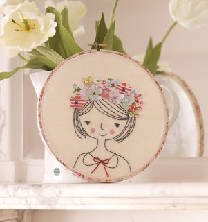 Flower Girl Hoop tutorial By Kirsty Neale -so pretty. Might give something like this a go to get me out of my embroidery rut... :)
