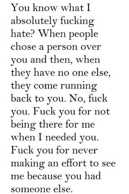 Not cute but very true.                                                                                                                                                                                 More