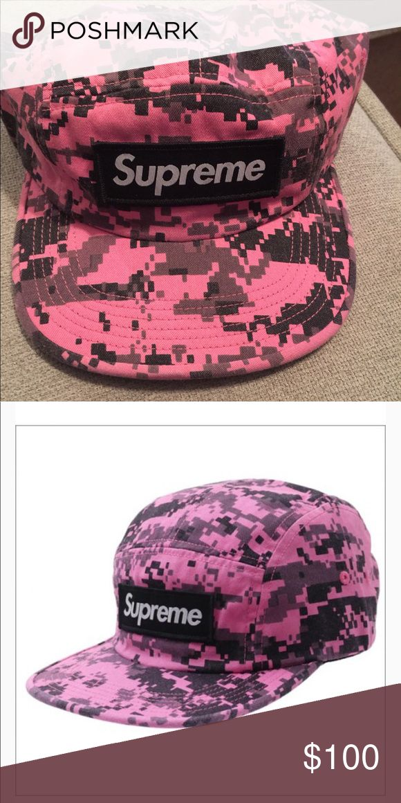 Supreme Nyco Twill Camp Cap Pink Digi Camo Sold Out