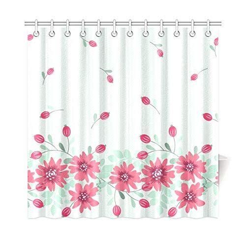 Amazon Com Whiofe Home Decor Bath Curtain Pretty Vintage Feedsack