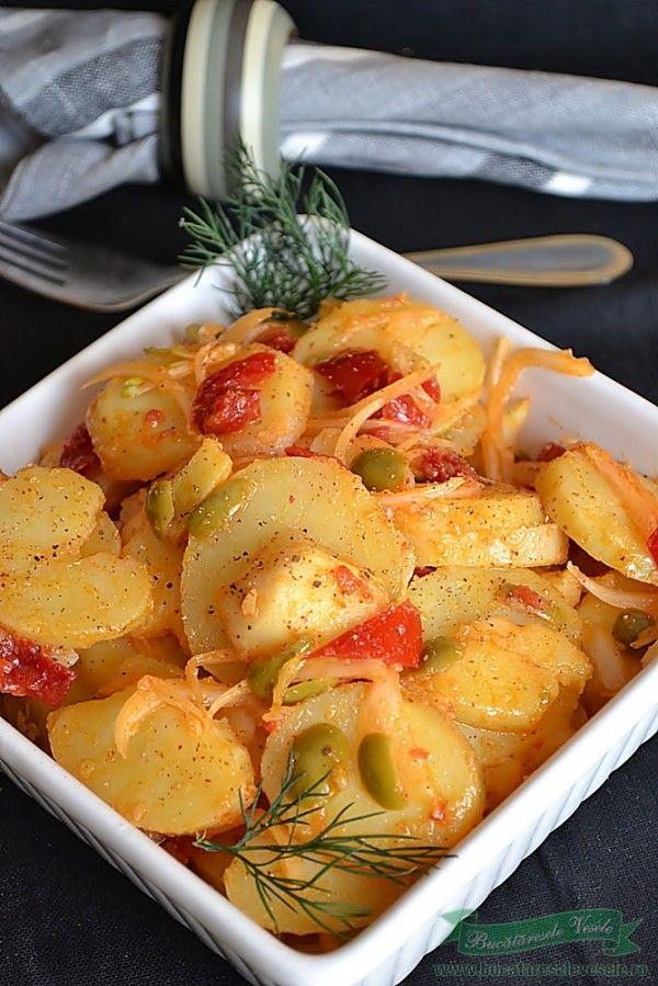 salata de cartofi - reteta de post