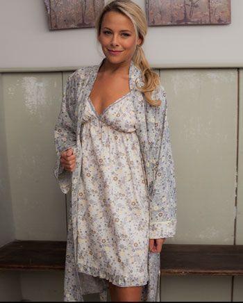 Katie Brushed Floral Printed Robe, Cyberjammies