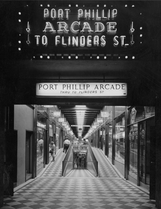 Wolfgang Sievers, Port Phillip Arcade, 1969. State Library of Victoria Pictures Collection