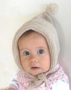 free pixie knit baby hat pattern
