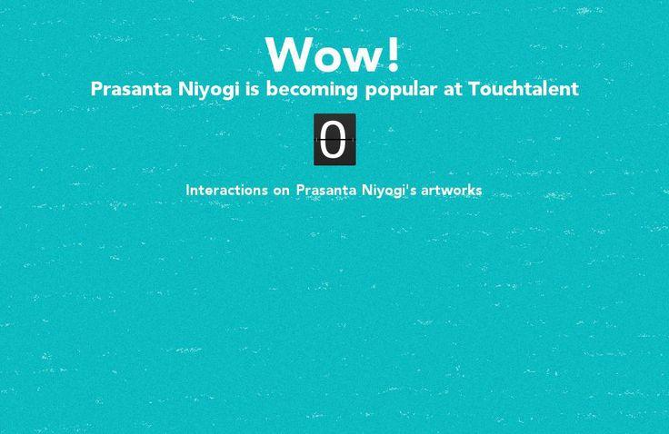 Prasanta Niyogi is becoming popular @touchtalent.com