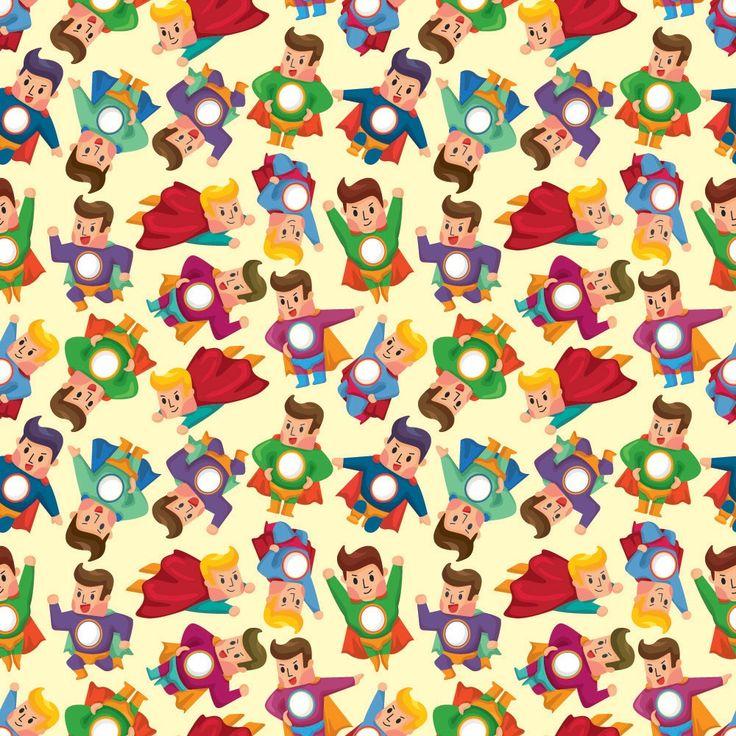 Echte superhelden voor de stoere jongens! Met dit fotobehang aan je muur wordt elke kamer superstoer! Fotobehang: Superman Patroon
