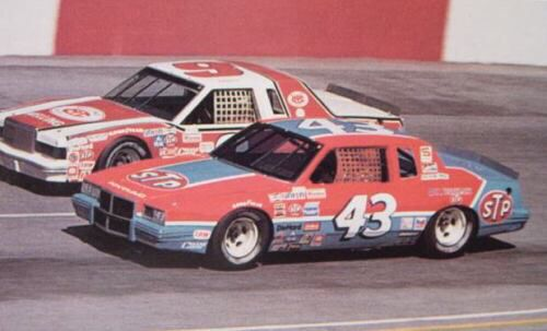 Richard Petty 43 Stp Pontiac And Bill Elliott 9 Melling