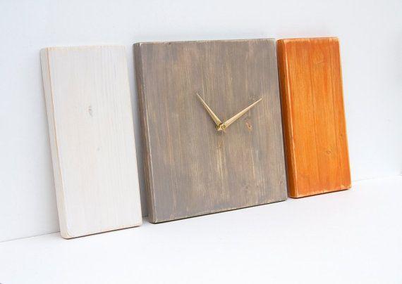 Decorazione geometrica orologio in legno minimo di ArtGlamourSligo