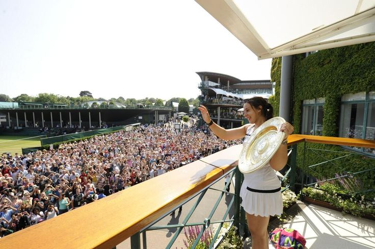 Marion Bartoli after winning Wimbledon, 6 July 2013.