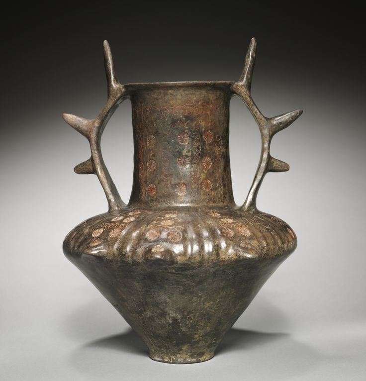 Amphora with Spiked Handles, 700-675 BC Italy, Latium, Italic, 3rd quarter 7th Century BC brown impasto ceramic Cleveland Museum of Art