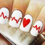 Dibujo fácil corazón uñas