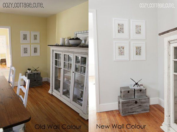 She Went From Bright Yellow To A 50 Lighter Version Of Gray Owl At Her Family Room ColorsColors For Living