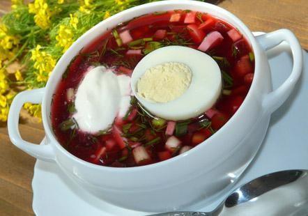 Холодный борщ с маринованной свёклой рецепт - рецепт холодного борща :: JV.RU