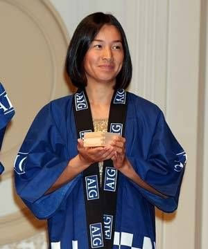 Kimiko in a Kimono: Kimiko Date-Krumm dons a Japanese kimono in this image from 2008. Kimiko looks just as beautiful here as when she played on n the WTA tour back in the 1990's.