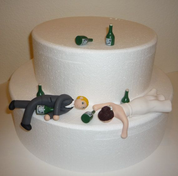 Just to make you smile!!!    Custom Drunk Wedding Cake Topper by BlueButterflyDesign on Etsy, $155.00