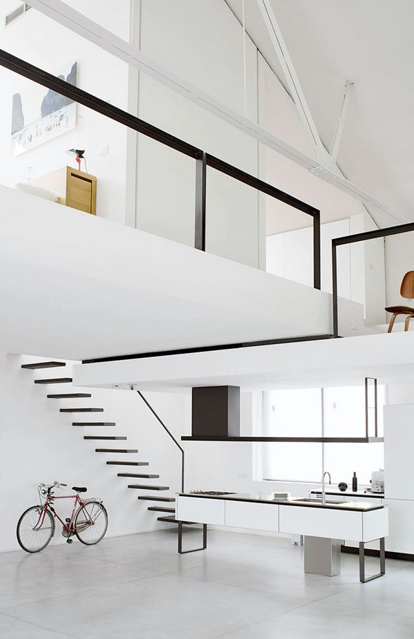 ideal workspace: clean white and spacious loft — curated by ajaedmond.com