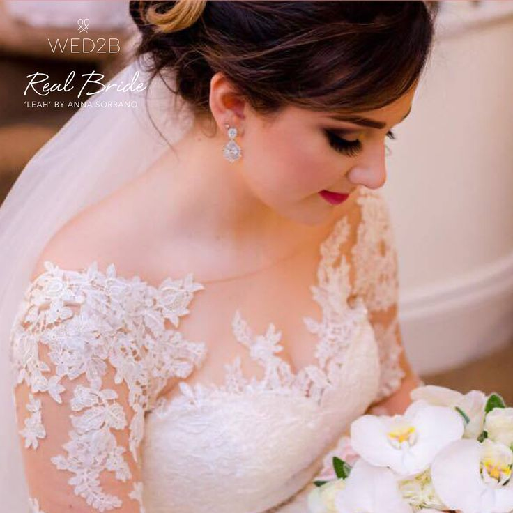 A beautiful photo of real bride Luna in 'Leah' by Anna Sorrano  Please share your photos with us by emailing info@wed2b.co.uk