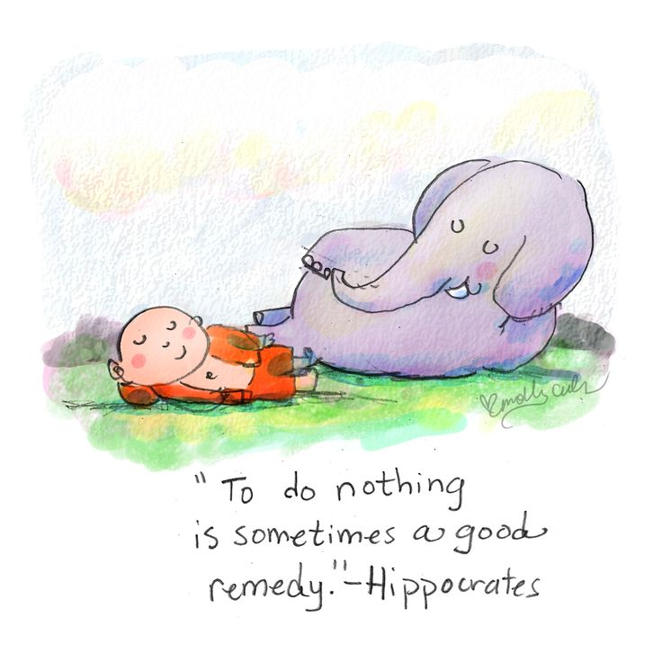 To do nothing is sometimes a good remedy. ~ Buddha Doodles - Hippocrates