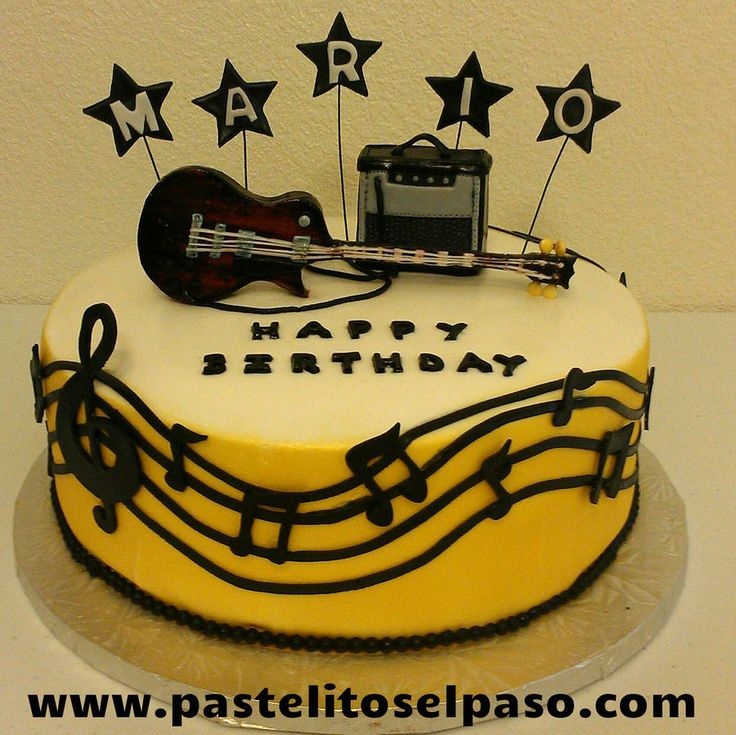 Guitar Cake Images With Name : The 25+ best ideas about Guitar Birthday Cakes on ...