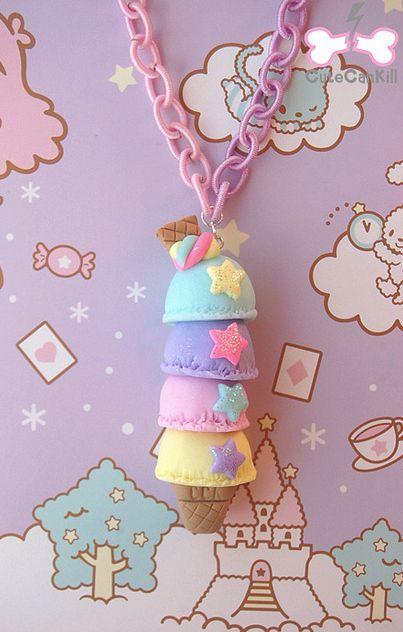 Ice Cream Tower Necklace <3