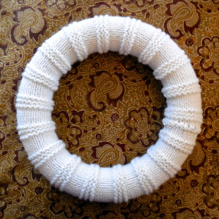 41 Best Knitted Wreaths Images On Pinterest Christmas Crafts