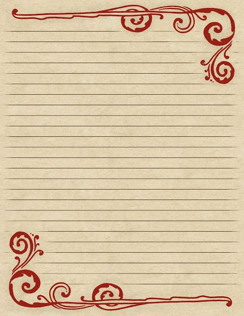 13 best Stationary images on Pinterest Writing paper, Free - lined letter writing paper