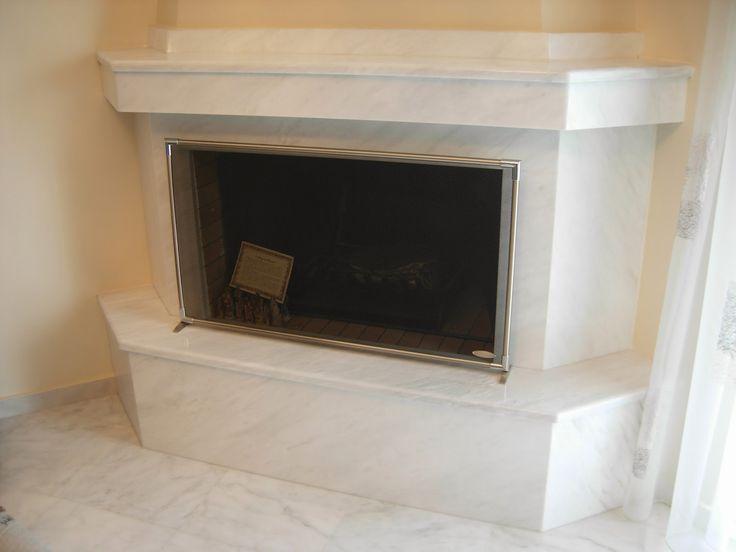 Kozani marble fireplace