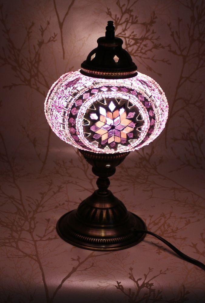 lampade da soffitto stile marocchino : ... Colorato Turco Stile Marocchino Mosaico Lampada Da Tavolo Paralume