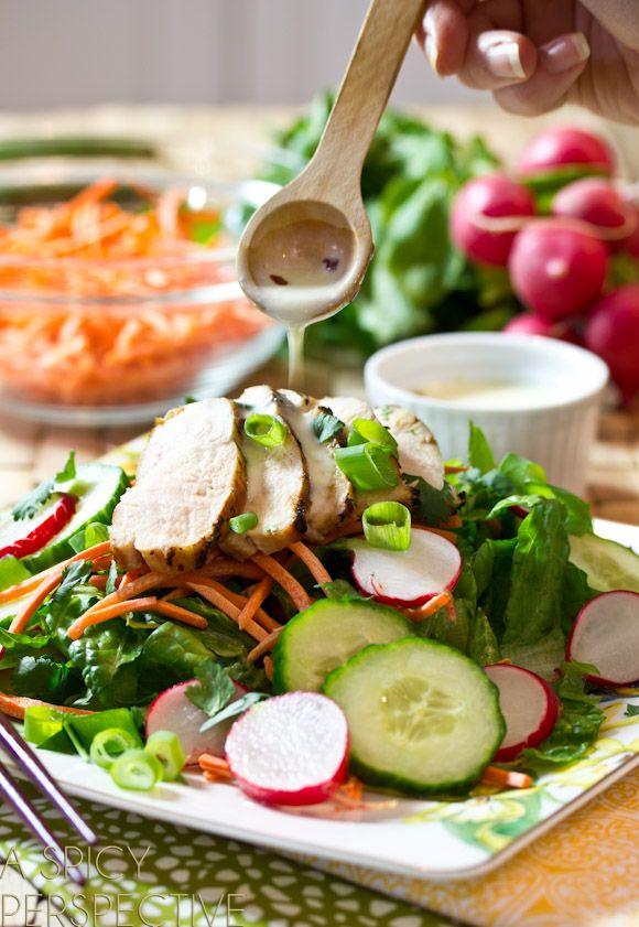 Chicken Vietnamese Salad | A Spicy Perspective #Vietnamese #healthy #salad