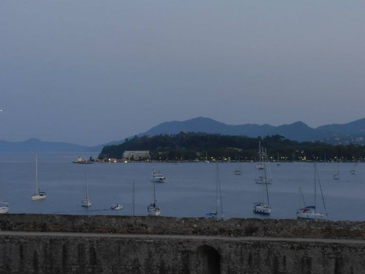 View from Old Fortress Cafe, Corfu