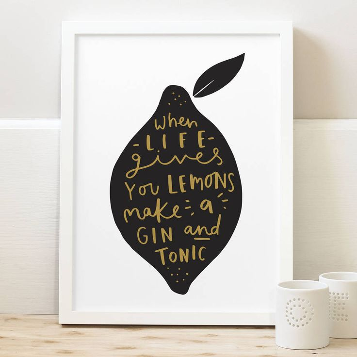 'when life gives you lemons' gin print by old english company…