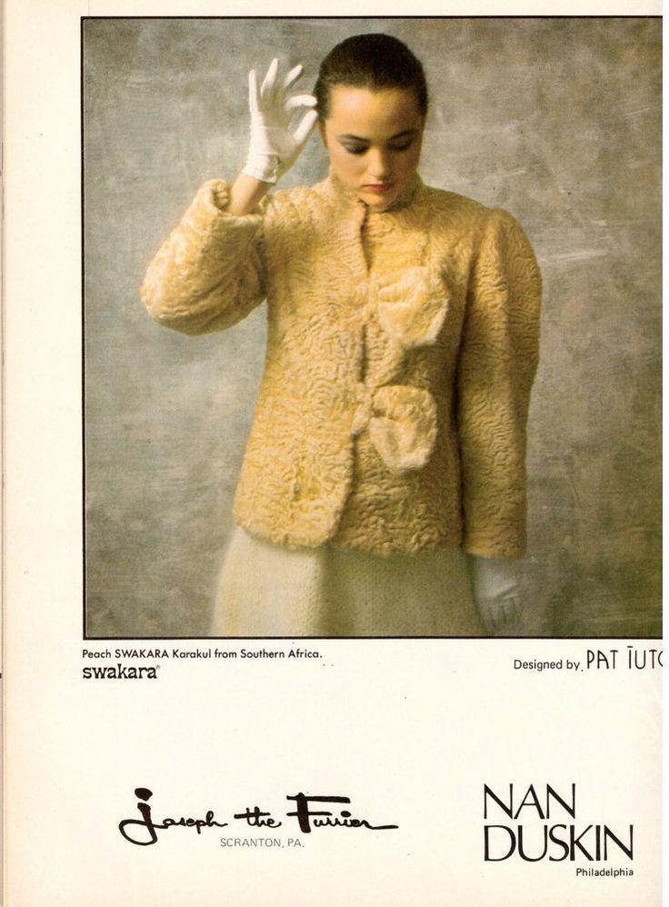 1980 Swakara Furs Nan Duskin Philadelphia Print Ad Vintage Advertisement VTG 80s | eBay