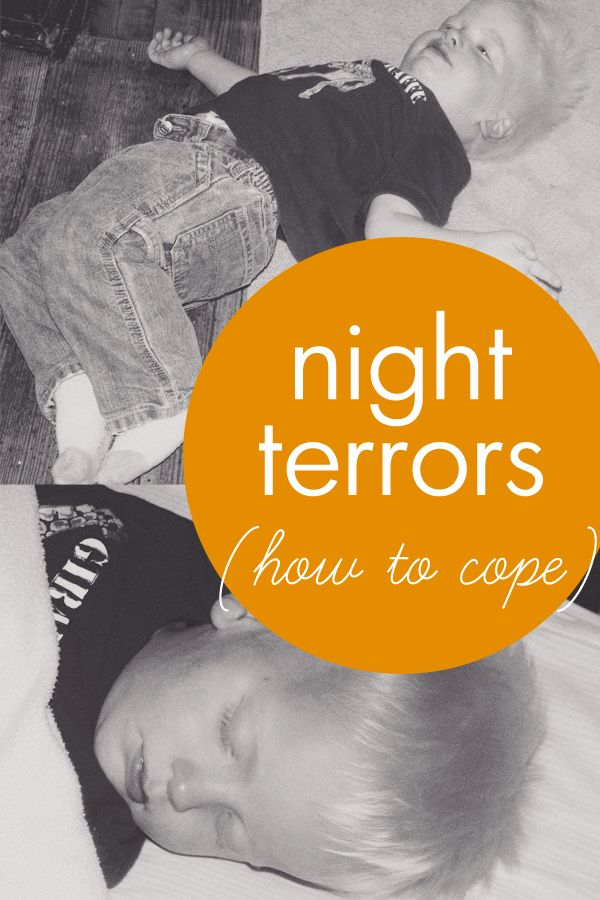 How to cope with night terrors - what they are and some ways to get through them.
