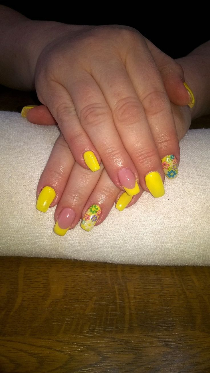 yellow gel, colour flowers
