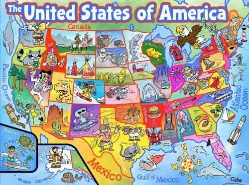 Cartoon Map Of America on